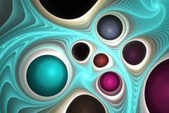 Gemas y plástico de fusión Foto de archivo