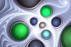 Gemas y plástico de fusión Imagen de archivo libre de regalías