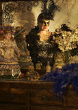 Gemaskeerde dame Royalty-vrije Stock Foto's