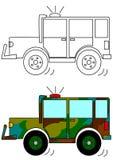 Gemaskeerde militaire auto Royalty-vrije Stock Afbeeldingen