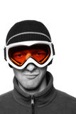Gemaskeerde Snowboarder Stock Afbeelding
