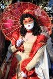 Gemaskeerde uitvoerder in Venetië Carnaval 2011 Stock Afbeeldingen