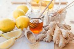 Gember, citroenen en honing Royalty-vrije Stock Afbeelding