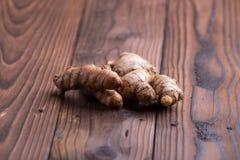 Gember en kurkumawortels Royalty-vrije Stock Foto's