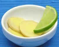 Gember met citroen Royalty-vrije Stock Afbeeldingen