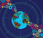 Gemechaniseerde Aarde Royalty-vrije Stock Afbeeldingen