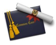 Gemeenschappelijk Kerndiploma van de middelbaar onderwijs stock afbeelding