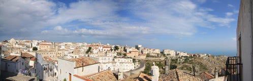 Gemeenschappelijk panorama van Monte Sant 'Angelo Foggia Italy royalty-vrije stock afbeeldingen