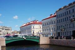 Gemeentelijk landschap, stad Heilige Petersburg Royalty-vrije Stock Foto
