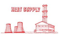 Gemeentelijk Materiaal, het Verwarmen en warm water Royalty-vrije Stock Afbeelding