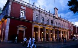 Gemeentelijk Paleis. Aguascalientes, Mexico Stock Foto's