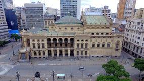 Gemeentelijk Theater São Paulo - Brazilië royalty-vrije stock fotografie