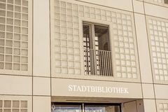 Gemeentelijke openbare bibliotheek (Stadtbibliothek) van Stuttgart Stock Fotografie