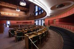Gemeenteraadkamer in het Stadhuis van Oslo, Noorwegen Royalty-vrije Stock Foto