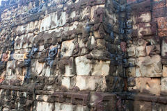 Gemeißelt Wand, Angkor Wat Stockbilder