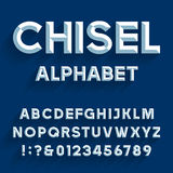 Gemeißelter Alphabet-Vektor-Guss Lizenzfreies Stockbild