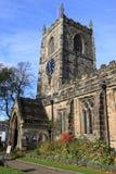 Gemeinde-Kirche der Heiliger Dreifaltigkeit Skipton, West-Yorks stockfotos
