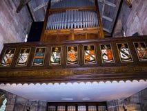Gemeinde-Kirche St. Mary's in unterem Alderley Cheshire Stockfotografie