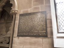 Gemeinde-Kirche St. Mary's in unterem Alderley Cheshire Stockbild