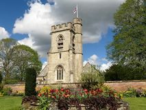 Gemeinde-Kirche St. Michael's, Chenies, Buckinghamshire, England, Großbritannien lizenzfreies stockbild