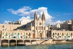 Gemeinde-Kirche von St. Julians, Malta Lizenzfreies Stockfoto