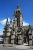 Gemeindeabschluß im Heiligen Thegonnec in Bretagne Stockbilder