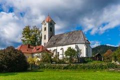 Gemeindekirche in ObermÃ-¼ hlbach stockfotografie
