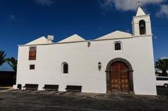 Gemeindekirche Parroquia San Roque, lanzerote Stockbild