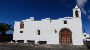 Gemeindekirche Parroquia San Roque, lanzerote Lizenzfreies Stockfoto
