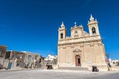 Gemeindekirche von Zebbug in Gozo, Malta Lizenzfreie Stockfotos