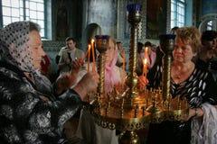 Gemeindemitglieder der orthodoxen Kirche Lizenzfreies Stockbild