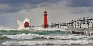Gemeiner Wind-großartiger Hafen-Leuchtturm Lizenzfreies Stockfoto