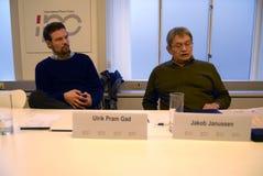 GEMEINSAME PRESSEKONFERENZ GREENLANDS ELECETIONS Lizenzfreies Stockbild