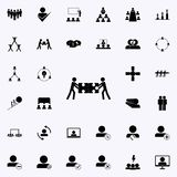 gemeinsame Sammlung verwirrt Ikone Teamwork-Ikonenuniversalsatz für Netz und Mobile lizenzfreie abbildung