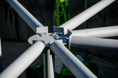 Gemeinsames Detail des Stahlrahmens des Neubaus im Bau stockbilder