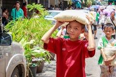 Gemeinschaft Khlong Toei Lizenzfreie Stockfotografie