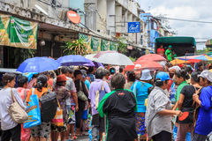 Gemeinschaft Khlong Toei Stockfotos