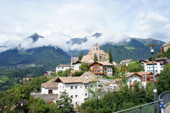Gemeinschaft Scena in Süd-Tirol Stockbilder