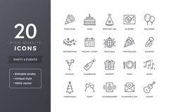 Gemeinschaftsikonen Lizenzfreies Stockfoto
