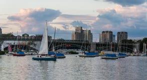 Gemeinschaftssegelboote Stockfotografie