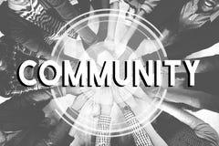 Gemeinschaftsverbindungs-Kommunikations-Gesellschafts-Einheits-Konzept stockfoto