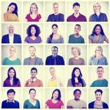 Gemeinschaftsverschiedenartigkeits-Gruppe Headshot-Leute-Konzept Stockfotografie