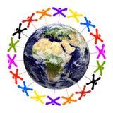 Gemeinschaftsweltweit - Erdbeschaffenheit durch die NASA reg. Stockfotografie