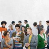 Gemeinschaftszufällige Leute-Kommunikation Team Friendship Concept Stockbild