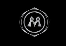 Gemella il logo degli uccelli Fotografie Stock
