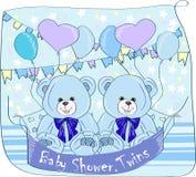 Gemella la doccia di bambino, Fotografia Stock