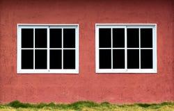 Gemella le finestre Fotografia Stock