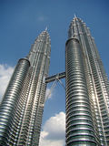 Gemellare-torrette di Petronas Fotografie Stock Libere da Diritti