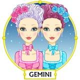 Gemelli del segno dello zodiaco Fotografie Stock