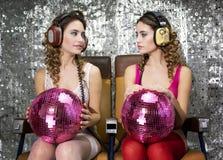 Gemelli della discoteca di Beautful Fotografie Stock